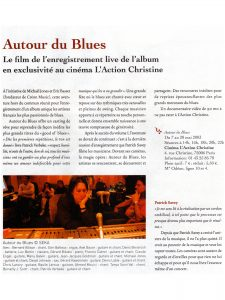 Festival Jazz a Saint Germain Autour du Blues le Film