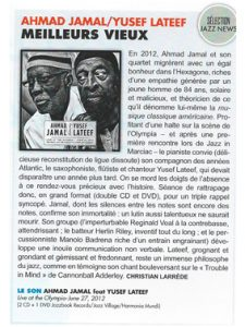 Jazz Magazine DVD Ahmad Jamal and Yusef Lateef Olympia